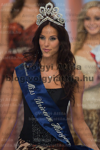 Betta Lipcsei wins the title Miss Universe Hungary during the joint Beauty Queen contest in Hungary's tv2 television headquarter in Budapest, Hungary on July 14, 2011. ATTILA VOLGYI