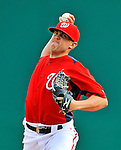 4 March 2011: Washington Nationals pitcher Drew Storen in action during a Spring Training game against the Atlanta Braves at Space Coast Stadium in Viera, Florida. The Braves defeated the Nationals 6-4 in Grapefruit League action. Mandatory Credit: Ed Wolfstein Photo