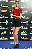 Taylor Sweft attends 40 Principales awards photocall of winners  2012 at Palacio de los Deportes in Madrid, Spain. January 25, 2013. (ALTERPHOTOS/Caro Marin) /NortePhoto