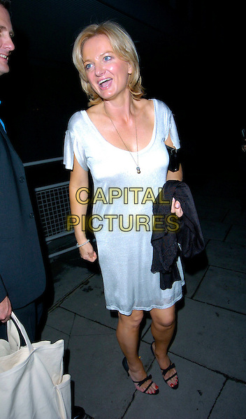 ALICE BEER.Attends Suka, An evening at Sanderson in aid of CLIC Sargent, The Sanderson, Berners Street, London, England..May 15th 2007.full length white silver dress black strappy shoes sandals suit mouth open .CAP/CAN.©Can Nguyen/Capital Pictures.