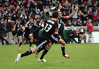 WASHINGTON, DC - OCTOBER 20, 2012:  Marcelo Saragosa (11) of D.C United after scoring against the Columbus Crew during an MLS match at RFK Stadium in Washington D.C. on October 20. D.C United won 3-2.