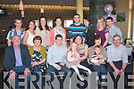 29 AGAIN: Janice O'Sullivan, Abbeydorney (seated 3rd right) celebrated her 30th birthday last Sunday evening in the Ballyroe Heights Hotel with family and friends, seated l-r: Michael and Noreen Crean, Liam, Janice, Mikayla, Mary, Mike and Ryan O'Sullivan. Back l-r: Joe O'Sullivan, Moyra Casey, Leana Crean, Brid O'Driscoll, Darren Crean, Catriona O'Connell with Karen and Mike O'Sullivan.