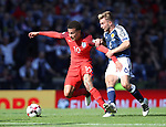 Scotland's James Morrison tussles with England's Dele Alli during the FIFA World Cup Qualifying match at Hampden Park Stadium, Glasgow Picture date 10th June 2017. Picture credit should read: David Klein/Sportimage