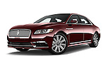 Stock pictures of low aggressive front three quarter view of 2017 Lincoln Continental Reserve 4 Door Sedan Low Aggressive
