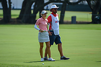 Azahara Munoz (ESP) looks over her approach shot on 1 during round 4 of the 2019 US Women's Open, Charleston Country Club, Charleston, South Carolina,  USA. 6/2/2019.<br /> Picture: Golffile | Ken Murray<br /> <br /> All photo usage must carry mandatory copyright credit (© Golffile | Ken Murray)