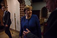 Bundeskanzlerin Angela Merkel haelt traditionelle Oberlin Rede.<br /> Jedes Jahr bitten das Oberlinhaus und die Oberlin Stiftung bekannte Persoenlichkeiten aus Politik und Gesellschaft eine Rede zu halten, die in Zusammenhang mit den diakonischen Werten des Unternehmens steht. Im 500. Jahr seit des Beginns der Reformation sprach Bundeskanzlerin Angela Merkel zu rund 150 geladenen Gaesten.<br /> Im Bild vlnr.:  Bundeskanzlerin Angela Merkel und Matthias Fichtmueller, Theologischer Vorstand. <br /> 8.11.2017, Potsdam<br /> Copyright: Christian-Ditsch.de<br /> [Inhaltsveraendernde Manipulation des Fotos nur nach ausdruecklicher Genehmigung des Fotografen. Vereinbarungen ueber Abtretung von Persoenlichkeitsrechten/Model Release der abgebildeten Person/Personen liegen nicht vor. NO MODEL RELEASE! Nur fuer Redaktionelle Zwecke. Don't publish without copyright Christian-Ditsch.de, Veroeffentlichung nur mit Fotografennennung, sowie gegen Honorar, MwSt. und Beleg. Konto: I N G - D i B a, IBAN DE58500105175400192269, BIC INGDDEFFXXX, Kontakt: post@christian-ditsch.de<br /> Bei der Bearbeitung der Dateiinformationen darf die Urheberkennzeichnung in den EXIF- und  IPTC-Daten nicht entfernt werden, diese sind in digitalen Medien nach §95c UrhG rechtlich geschuetzt. Der Urhebervermerk wird gemaess §13 UrhG verlangt.]