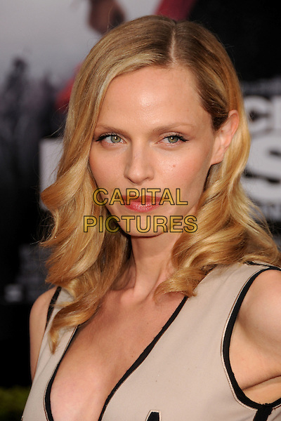 """RACHEL ROBERTS.""""Prince Of Persia: The Sands Of Time"""" Los Angeles Premiere held at Grauman's Chinese Theatre, Hollywood, California, USA..May 17th, 2010.headshot portrait black trim beige.CAP/ADM/BP.©Byron Purvis/AdMedia/Capital Pictures."""