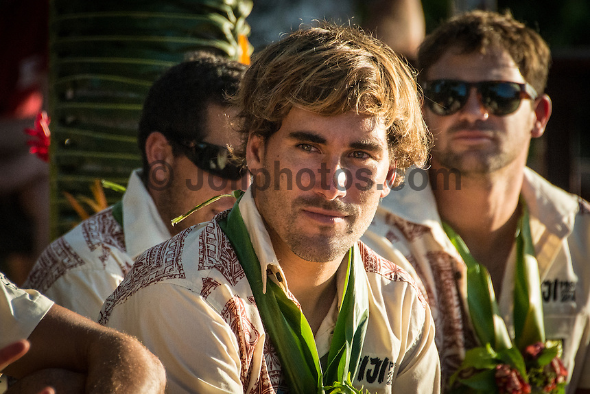 Namotu Island Resort, Namotu, Fiji. (Saturday May 31, 2014) Aritz Aranburu (EUK) –  The official Opening Ceremony for the 2014 Fiji Pro was held this afternoon on Tavarua Island with a tradition blessing and kava ceremony for the officials and Top 34 surfers. Photo: joliphotos.com