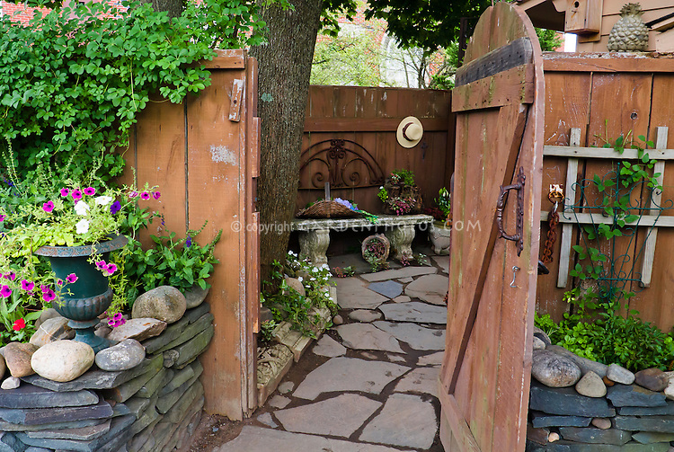 Dress Up A Rustic Fence With Ornaments Open Door Inviting Into Secret Secluded Charming