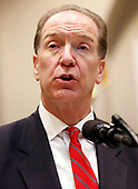 David Malpass, United States President Donald J. Trump's choice to lead the World Bank, makes remarks in the Roosevelt Room of the White House, in Washington, DC, February 6, 2019.<br /> Credit: Martin H. Simon / CNP