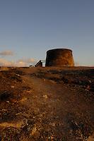 Old castle, fortress, Playa del Castillo, El Cotillo, Fuerteventura, Canary Islands, Spain.