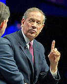 Former Governor George Pataki (Republican of New York), a candidate for the 2016 Republican nomination for President of the United States, shares his thoughts on Israel and the Middle East at the 2015 Christians United For Israel Summit Candidates Forum at the Washington Convention Center in Washington, DC on Monday, July 13, 2015. <br /> Credit: Ron Sachs / CNP