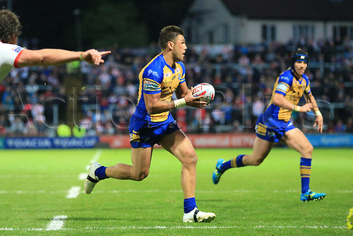 June 29th 2017, Headingley Carnegie, Leeds, England; Betfred Super League; Leeds Rhinos versus St Helens; Joel Moon of Leeds Rhinos runs in open field with the ball