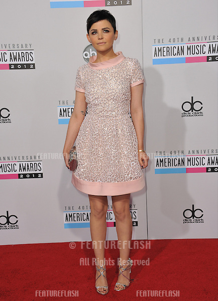 Ginnifer Goodwin at the 40th Anniversary American Music Awards at the Nokia Theatre LA Live..November 18, 2012  Los Angeles, CA.Picture: Paul Smith / Featureflash