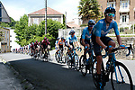 Movistar Team and Team Ineos lead the peloton in the chase during Stage 3 of the Route d'Occitanie 2019, running 173km from Arreau to Luchon-Hospice de France, France. 22nd June 2019<br /> Picture: Colin Flockton | Cyclefile<br /> All photos usage must carry mandatory copyright credit (© Cyclefile | Colin Flockton)