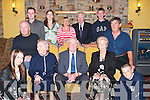 80TH: Helping Patrick Bunce, Moyvane, to celebrate his 80th Birthday at Kirby's Lanterns Hotel, Tarbert, on Sunday were his family. Front l-r: Tara Constantine, Mike and May Collopy, Patrick Bunce (birthday boy), Nora and William Constantine Jnr and Brian Collopy. Back l-r: Declan O'Donoghue, Jessica Constantine, Helen Collopy, William Constantine and Michael Collopy..