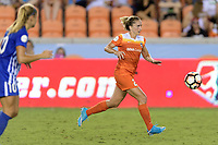 Houston, TX - Wednesday June 28, 2017: Camille Levin chases after a loose ball during a regular season National Women's Soccer League (NWSL) match between the Houston Dash and the Boston Breakers at BBVA Compass Stadium.
