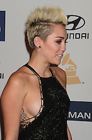 BEVERLY HILLS, CA - FEBRUARY 09: Miley Cyrus arrives at the The 55th Annual GRAMMY Awards - Pre-GRAMMY Gala And Salute To Industry Icons Honoring L.A. Reid at the Beverly Hilton Hotel on February 9, 2013 in Beverly Hills, California.PAP0213JP405.PAP0213JP405. Nortephoto