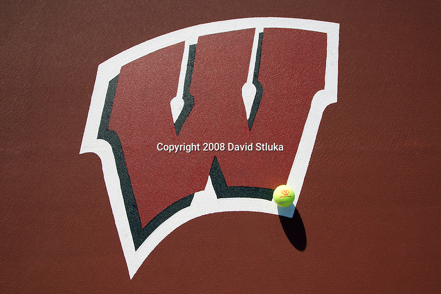 MADISON, WI - SEPT 16: The Motion W is the official logo of the Wisconsin Badgers. (Photo by David Stluka)