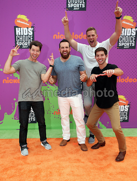 13 July 2017 - Los Angeles, California - Coby Cotton, Tyler Toney, Cody Jones, Cory Cotton. Nickelodeon Kids' Choice Sports Awards 2017 held at Pauley Pavilion. Photo Credit: F. Sadou/AdMedia