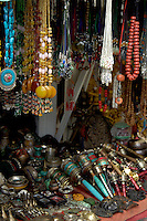 Shops selling a variety of Buddhism religious items Dress and hair accessories in Lhasa, Tibet