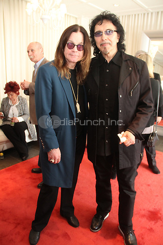 LOS ANGELES, CA - JANUARY 25: Tony Iommi, Ozzy Osbourne backstage at ASCAP presents the 2014 Grammy Nominee Brunch held at the SLS Hotel on January 25, 2014. Credit: Walik Goshorn/MediaPunch