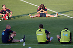 MADRID (24/05/09).- The Spanish Soccer national team has officially begun their hunt for the championship, arriving in the Madrid municipality of Las Rozas to begin preparing for South Africa World Cup.  Carles Puyol...PHOTO: Cesar Cebolla / ALFAQUI