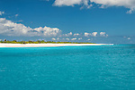 The pristine remote coastline of Kiritimati Island in Kiribati
