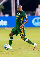 13th July 2020, Orlando, Florida, USA;  Portland Timbers defender Chris Duvall (15) looks to pass the ball during the MLS Is Back Tournament between the LA Galaxy versus Portland Timbers on July 13, 2020 at the ESPN Wide World of Sports, Orlando FL.