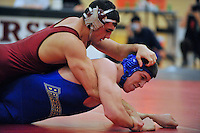 24 January 2008: Zack Giesen defeats Riley Orozco (blue) during Stanford's 22-16 win over Cal State Bakersfield at the Ford Center in Stanford, CA.