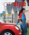 Variety of magazine layouts with food, fashion, architecture and other photography.