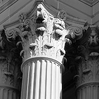 Columns on Office Building