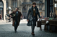 Fantastic Beasts: The Crimes of Grindelwald (2018) <br /> Eddie Redmayne &amp; Dan Fogler  <br /> *Filmstill - Editorial Use Only*<br /> CAP/KFS<br /> Image supplied by Capital Pictures