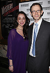 Adam Godley and Guest attending the Broadway Opening Night Performance of 'The Mystery of Edwin Drood' at Studio 54 in New York City on 11/13/2012