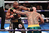 24th March 2018, O2 Arena, London, England; Matchroom Boxing, WBC Silver Heavyweight Title, Dillian Whyte versus Lucas Browne; Dillian Whyte attacks Lucas Browne during the fight