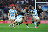 Anthony Watson of England in action during the Old Mutual Wealth Series match between England and Argentina at Twickenham Stadium on Saturday 11th November 2017 (Photo by Rob Munro/Stewart Communications)
