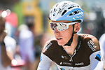 Romain Bardet (FRA) AG2R La Mondiale at sign on before the start of Stage 11 of the 2018 Tour de France running 108.5km from Albertville to La Rosiere Espace San Bernardo, France. 18th July 2018. <br /> Picture: ASO/Pauline Ballet | Cyclefile<br /> All photos usage must carry mandatory copyright credit (&copy; Cyclefile | ASO/Pauline Ballet)