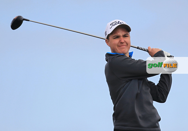 David Ramsey (ENG) on the 14th tee during Round 1 of the Flogas Irish Amateur Open Championship at Royal Dublin on Thursday 5th May 2016.<br /> Picture:  Thos Caffrey / www.golffile.ie