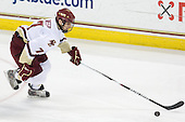 Carl Sneep (BC - 7) - The Boston College Eagles defeated the University of Massachusetts-Amherst Minutemen 5-2 on Saturday, March 13, 2010, at Conte Forum in Chestnut Hill, Massachusetts, to sweep their Hockey East Quarterfinals matchup.