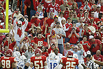31 October Chiefs' fans try to disrupt the Colts by creating a wall of sound. The Kansas City Chiefs defeated the Indianapolis Colts 45-35 at Arrowhead Stadium in Kansas City, MO in a regular season National Football League game..