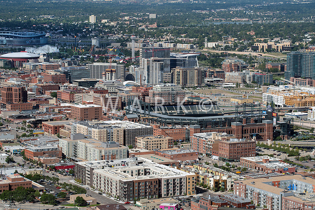 LODO Denver with Elitches; Coors Field; Union Station. Aug 20, 2014.  812851