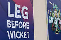 A general shot of the ICC Signage during South Africa vs West Indies, ICC World Cup Warm-Up Match Cricket at the Bristol County Ground on 26th May 2019