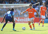 Blackpool's John O'Sullivan under pressure from Wycombe Wanderers' Marcus Bean<br /> <br /> Photographer Kevin Barnes/CameraSport<br /> <br /> The EFL Sky Bet League One - Wycombe Wanderers v Blackpool - Saturday 4th August 2018 - Adams Park - Wycombe<br /> <br /> World Copyright &copy; 2018 CameraSport. All rights reserved. 43 Linden Ave. Countesthorpe. Leicester. England. LE8 5PG - Tel: +44 (0) 116 277 4147 - admin@camerasport.com - www.camerasport.com