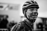 Toon Vandebosch's (BEL/Pauwels Sauzen -Vastgoedservice) post-race face<br /> <br /> Superprestige cyclocross Hoogstraten 2019 (BEL)<br /> Elite Men's Race<br /> <br /> &copy;kramon