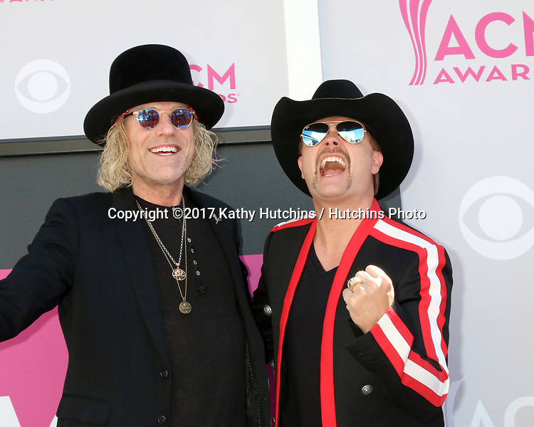 LAS VEGAS - APR 2:  Big and Rich at the Academy of Country Music Awards 2017 at T-Mobile Arena on April 2, 2017 in Las Vegas, NV