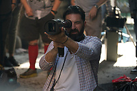 Hotel Artemis (2018) <br /> Behind the scenes photo of Drew Pearce<br /> *Filmstill - Editorial Use Only*<br /> CAP/MFS<br /> Image supplied by Capital Pictures