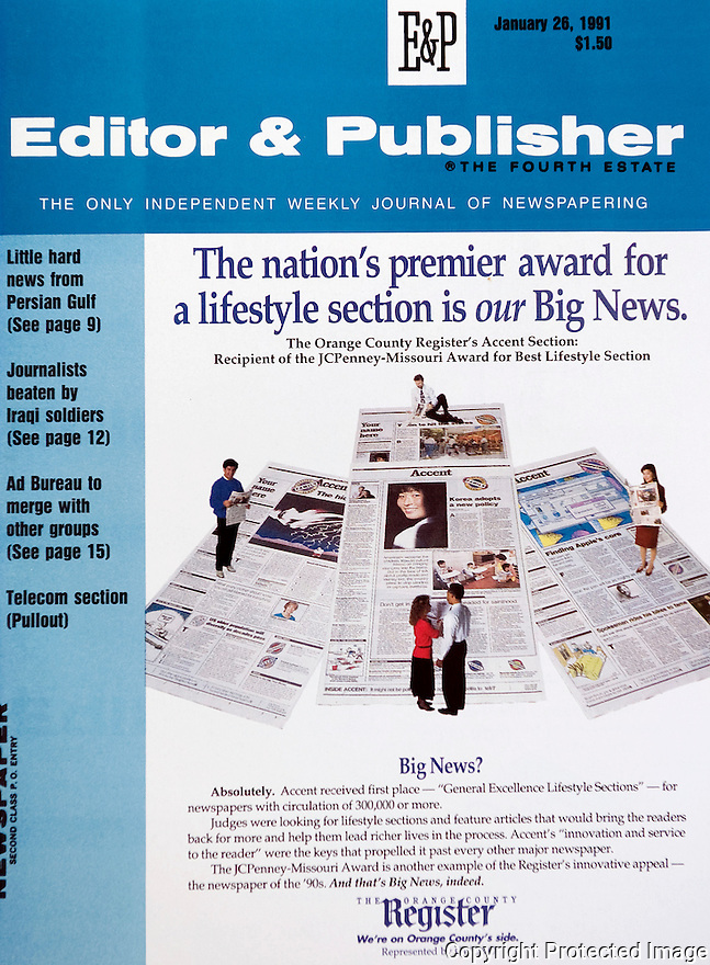 Editor and Publisher Magazine Cover