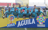 MONTERIA - COLOMBIA, 22-08-2019: Jugadores de Jaguares posan para una foto previo al partido por la fecha 7 de la Liga Águila II 2019 entre Jaguares de Córdoba F.C. y Alianza Petrolera jugado en el estadio Jaraguay de la ciudad de Montería. / Players of Jaguares pose to a photo prior the match for the date 7 as part Aguila League II 2019 between Jaguares de Cordoba F.C. and Alianza Petrolera played at Jaraguay stadium in Monteria city. Photo: VizzorImage / Cont