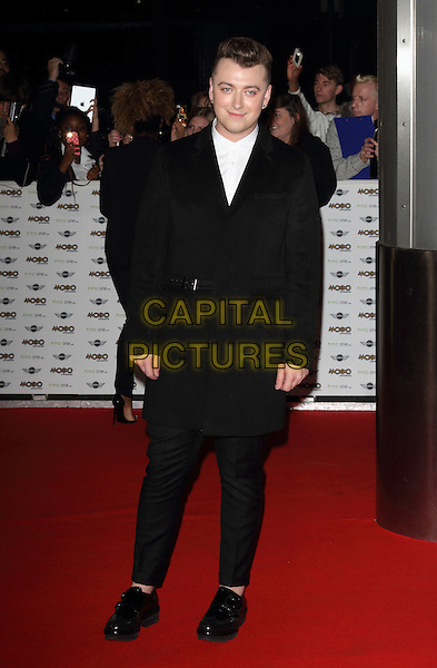 LONDON, ENGLAND - OCTOBER 22:Sam Smith attends the MOBO Awards at SSE Arena on October 22, 2014 in London, England. <br /> CAP/ROS<br /> &copy;Steve Ross/Capital Pictures