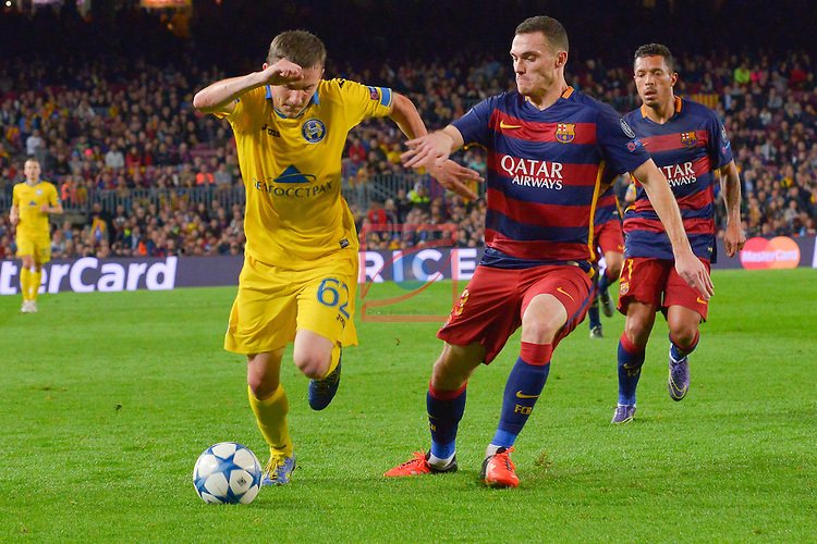 VERMAELEN, GORDEJCHUCK - Champions League 2015/16 Matchdy 4 - FC Barcelona vs Bate Borisov (3-0)